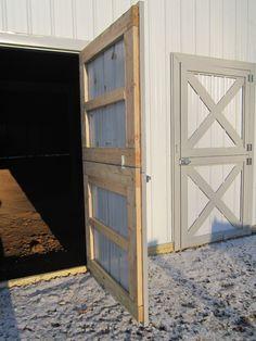 more informations of home decoration rico design barn house metal front door- Barn Stalls, Horse Stalls, Barn Windows, Exterior Barn Doors, Barn Door Garage, Steel Barns, Barn Door Designs, Metal Barn, Metal Doors