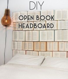 Check out this tutorial on how to make a #DIY book headboard. Looks easy enough! #BedroomIdeas #HomeDecorIdeas @istandarddesign