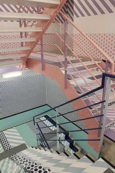 Coolest stairwell! Opening Ceremony flagship store in the neighborhood of Omotesando//: