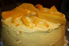 Manila MANGO Chiffon Cake      In the spring, I become a MANGO maniac. There is MANGO madness in my kitchen. I love MANGOES. Absolutely and unconditionally. We used to have mango trees in our yard, growing up in an agricultural town in the Philippines. Back then, I took for granted that we could have an unending supply year round. So, when we moved to America, I had mango withdrawal. I missed mangoes like a dear old pal.    Lately, we've