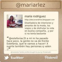 .@mariarlez's Twitter profile #FF