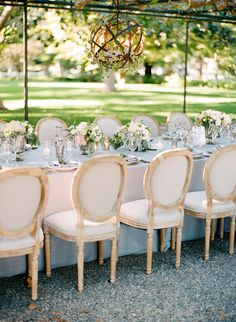 See How a Fall Garden Wedding is Perfectly Done Wedding Reception Decorations, Wedding Table, Decor Wedding, Country Garden Weddings, Beautiful Table Settings, Wedding Arrangements, Garden Theme, Outdoor Furniture Sets, Outdoor Decor