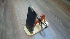 Wooden phone and glasses holder Lady on the beach / Wooden