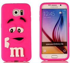 Free Shipping 3D Soft Cases Silicon Rainbow Bean M&M Chocolate Case Cover for Samsung Galaxy S6 / S6 edge