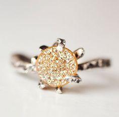 Brown Sugar Druzy Ring / Lauren Wolf