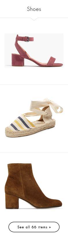 """Shoes"" by eleonore-plot on Polyvore featuring shoes, sandals, mid-heel shoes, mid-heel sandals, madewell shoes, madewell sandals, synthetic shoes, platform gladiator sandals, roman sandals et wrap sandals"