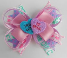 Valentine's Day Layered Boutique Bow... by CinderleyDesigns, $5.00 Love, love, love, love bows :)