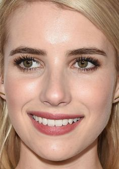 Close-up of Emma Roberts at 20th Century Fox's Comic-Con 2015 party. http://beautyeditor.ca/2015/07/19/best-celebrity-beauty-looks-ashley-madekwe