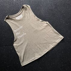 187728908ed06 Because She Dared Women s Cropped Tank. Be the woman who inspires us  because you dare