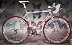 "Trek ""Butterfly"" Madone. 500,000 dollars. So, this is coated with hundreds of wings taken from butterflies. So not worth it."
