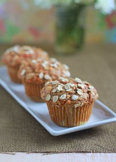 I made these yesterday and they were so yummy the boys each had two. Logan's teacher even asked for the recipe when we brought them for a preschool snack! Hearty spiced carrot muffins | Kitchen Treaty