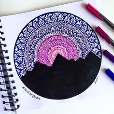 Mandala Art Therapy, Mandala Art Lesson, Mandala Artwork, Mandala Painting, Cute Doodle Art, Doodle Art Designs, Doodle Art Drawing, Art Drawings Sketches Simple, Pencil Art Drawings