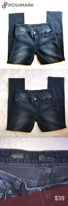KUT from the Kloth Stevie straight leg - size 14 Stevie fit | straight leg | dark wash | size 14. Kut from the Kloth Jeans Straight Leg