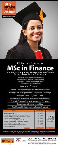Last call for Executive MSc in Finance