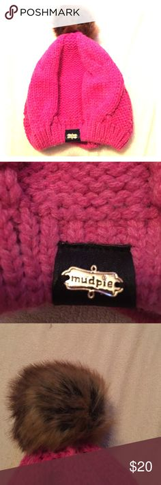 Mud pie beanie brand new Mud pie beanie . Hot pink brand new Mud Pie Accessories Hats