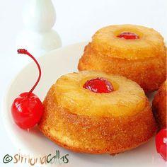Briose rasturnate cu ananas si cirese (Prajitura rasturnata cu fructe) - simonacallas