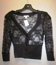 Lace cardigan 90% nylon 10% spandex Sizes S-M-L $12.99