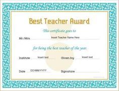 best teacher award certificate template for ms word download at httpcertificatesinn