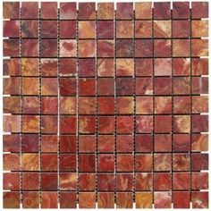 MS International 12 in. x 12 in. Red Polished Onyx Mesh-Mounted Mosaic Tile-SMOT-RONYX-1X1P at The Home Depot