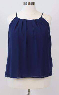 #TCFxSocietyPlus 100% Polyester Cool Gal Blue Best plus size fashion store. Plus size tops, plus size skirts, Jessica Kane plus size blogger SKORCH magazine, Society+, Plus Size