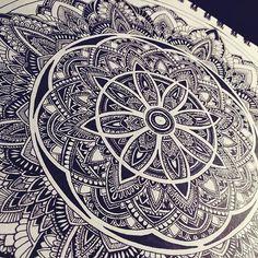 Things I doodle. . . . . . . . #mandala #mandalas #mandalatattoo #mandalaart…