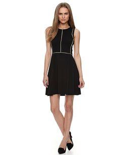 a99bb5a0cd1f שמלה עם קווים מוזהבים - שמלות - Castro.com Fashion Brand