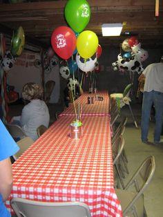 Farm Party - guest tables