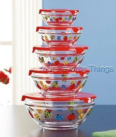 Bowl Set Ladybugs. I have these and I love them.