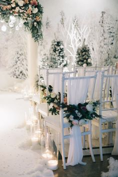 Bright Ideas Of Wedding Ceremony Decorations ★ wedding ceremony decorations winter ceremony with flowers and candles lavanda black Wedding Ceremony Ideas, Wedding Themes, Arch Wedding, Wedding Bride, Wedding Dresses, Grey Winter Wedding, Winter Wonderland Wedding, Wedding Destination, Wedding Places