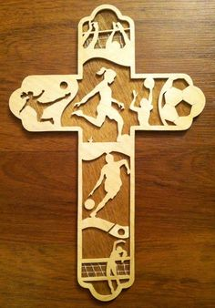 Women's Soccer Basketball & Volleyball Cross by BriarBeachDesigns