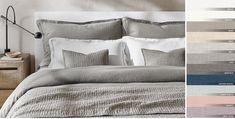 Stonewashed Belgian Linen Bedding Collection | RH