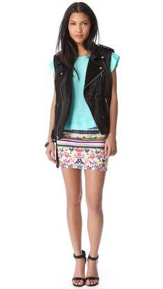 Clover Canyon Surf Shack Neoprene Mini Skirt
