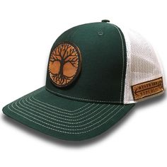 The Rooted II. Unique Handmade Leather Patch Design. Comfortable fit Outdoor Inspired Style Adjustable Snapback - one size fits most (adult sizes) JOIN THE REPUBLIC, WEAR WESTWARD.