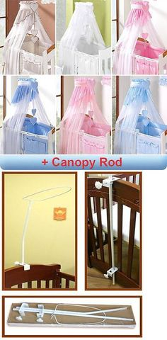 Canopies and Netting 180905 Coronet Baby Canopy Drape Mosquito Net 320Cm + Cl& Rod Fits  sc 1 st  Pinterest & Canopies and Netting 180905: Luxury Baby Canopy Drape 480Cm Width ...
