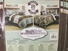 NEW NORWALK REVERSIBLE 10 PIECE COMFORTER SET QUEEN