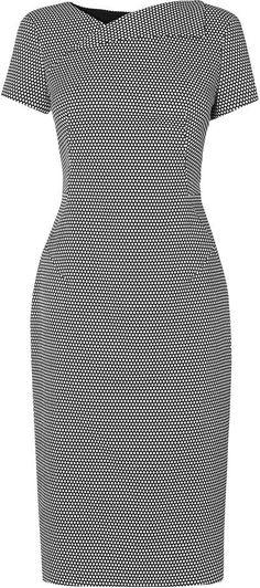Nieve Jacquard Tailored Dress