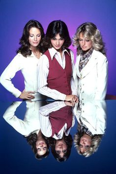"""Charlie's Angels"" : Jaclyn Smith, Kate Jackson and Farrah Fawcett"