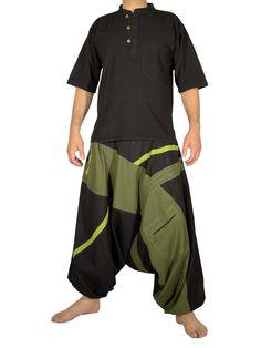 Vêtements ethniques : sarouel slack kaki