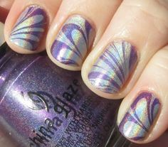 Polishology: K-S-U Wildcats! Holographic Water Marble