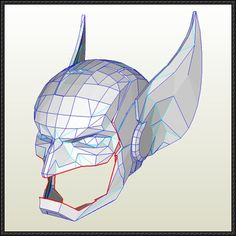 Wolverine Helmet Papercraft Free Download - http://www.papercraftsquare.com/wolverine-helmet-papercraft-free-download.html