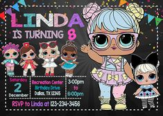 LOL Surprise Doll Party Invitation  Hello and Welcome to my shop :-) Please read this item description before you purchase from me to ensure you know what you are purchasing and how to provide the information i need to complete your order.  * ITEM DESCRIPTION:  This is a digital
