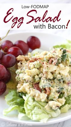Low-FODMAP Egg Salad with Bacon  /  Delicious as it Looks