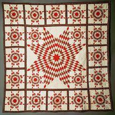 Quilt, Star of Bethlehem pattern variation                                                                                      Date:                                        ca. 1845