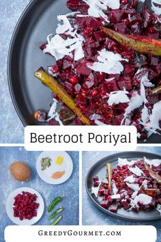 Beetroot #poriyal is a fabulous way of cooking with #beetroot differently, other than roasting it or pickling it! A classic #vegan #Indian side dish recipe. CLICK ON THE IMAGE TO LEARN MORE #greedygourmet #recipe #foodie  #whatsfordinner #veganlife #nomnom #whatsforlunch How To Cook Beetroot, Coconut Shavings, Gourmet Recipes, Side Dish Recipes, Indian Side Dishes, Curry Leaves, Whats For Lunch, Coconut Curry, Learn To Cook