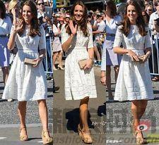 2015 Spring dress White Fashion Cotton Slim Summer Kate Princess Short Sleeve