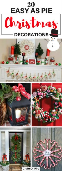 Are you excited for Christmas yet? I sure am! If you're looking for the best ways to decorate your home this year, then you have to check out these AMAZING diy christmas decoration ideas. So IN LOVE with them. I can't wait to get cracking!