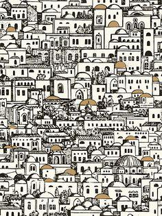 Buy Cole & Son Mediterranean Wallpaper, Mono, 77/5016 online at JohnLewis.com - John Lewis