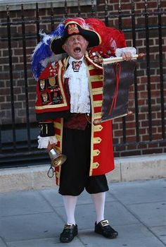 Town crier, smirking page: Faces of the royal baby's birth - TODAY.com