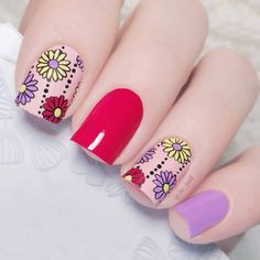 80 Cute Short Nails Design Ideas For Spring & Summer (Square Round & Oval Nails) Cute Short Nails, Short Nails Art, Cute Nails, My Nails, Fall Nail Art Designs, Short Nail Designs, Oval Acrylic Nails, Stamping Nail Art, Stamping Plates