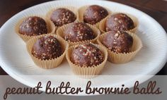 Peanut Butter Brownie Balls - Fit Foodie Finds